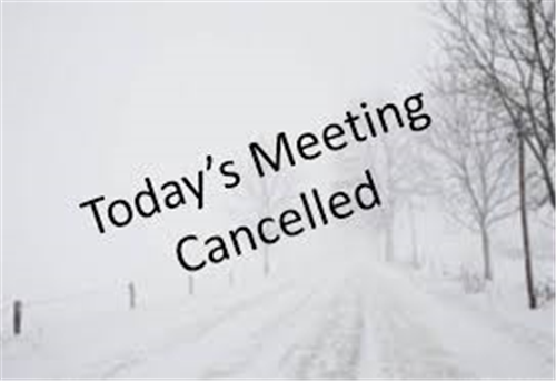 Clubs Forum Meeting Cancelled